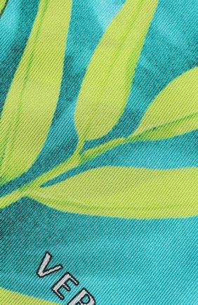 Мужские шелковый шарф VERSACE зеленого цвета, арт. IBA0005/A234781   Фото 2