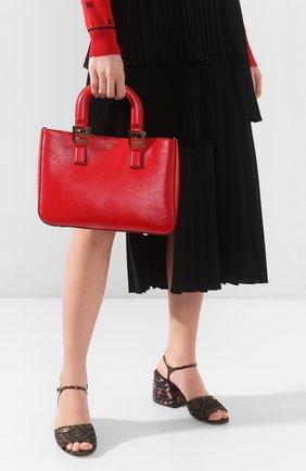 Женская сумка FENDI красного цвета, арт. 8BH367 A9Y0 | Фото 2