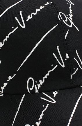 Мужской шелковая бейсболка VERSACE черного цвета, арт. ICAP004/A233543 | Фото 3