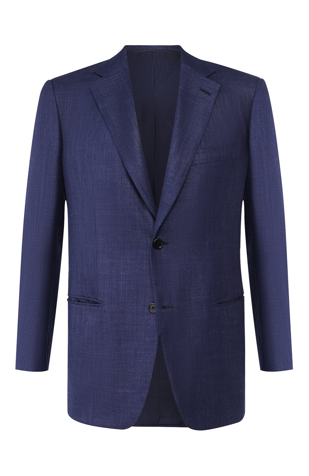 Мужской пиджак из смеси шерсти и шелка BRIONI темно-синего цвета, арт. RGH00Q/P9A54/PARLAMENT0   Фото 1