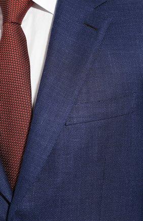 Мужской пиджак из смеси шерсти и шелка BRIONI темно-синего цвета, арт. RGH00Q/P9A54/PARLAMENT0   Фото 5