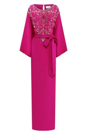 Женское шелковое платье MARCHESA розового цвета, арт. M28701 | Фото 1