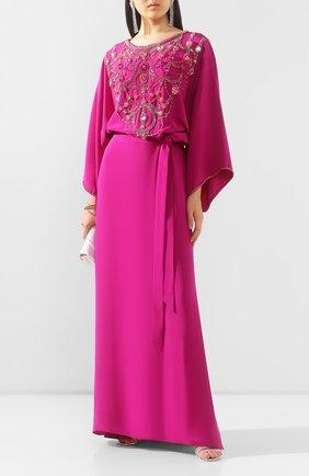 Женское шелковое платье MARCHESA розового цвета, арт. M28701 | Фото 2
