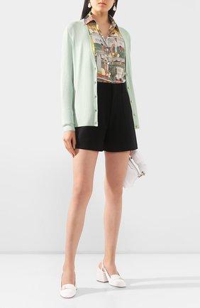 Женский кардиган из смеси шерсти и шелка ST. JOHN светло-зеленого цвета, арт. K61Z0G2 | Фото 2