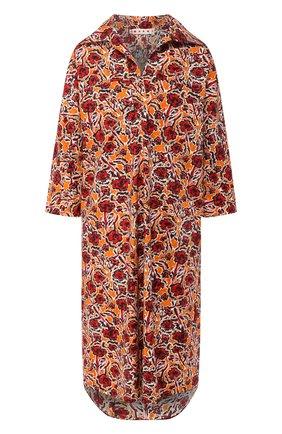 Женское хлопковое платье MARNI разноцветного цвета, арт. ABMA0480A1/TCY78 | Фото 1