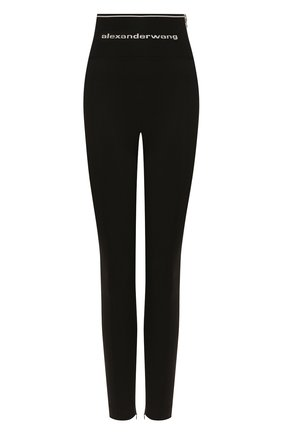 Женские леггинсы ALEXANDER WANG черного цвета, арт. 1WC1204218 | Фото 1