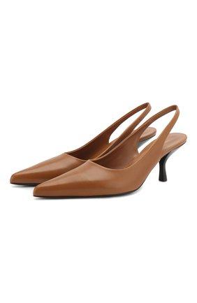Женская кожаные туфли bourgeoise THE ROW светло-коричневого цвета, арт. F1101-L52 | Фото 1