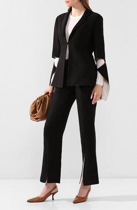 Женская кожаные туфли bourgeoise THE ROW светло-коричневого цвета, арт. F1101-L52 | Фото 2