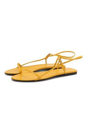 Женские кожаные сандалии bare THE ROW желтого цвета, арт. F1136-L35 | Фото 1