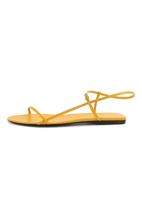 Женские кожаные сандалии bare THE ROW желтого цвета, арт. F1136-L35   Фото 3