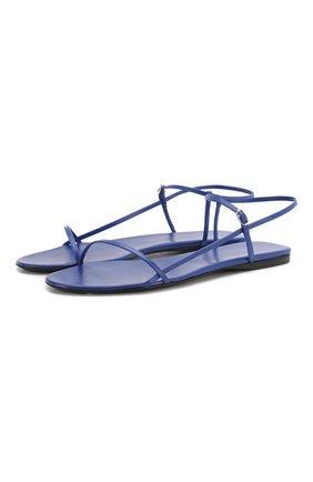 Женские кожаные сандалии bare THE ROW синего цвета, арт. F1136-L35 | Фото 1