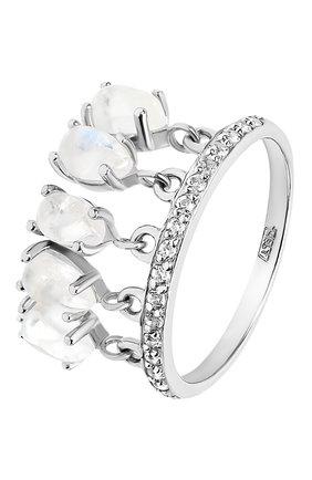 Женское кольцо water MOONKA STUDIO серебряного цвета, арт. wt-tr-mns   Фото 1