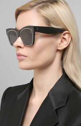 Женские солнцезащитные очки CELINE EYEWEAR черного цвета, арт. 4004IS | Фото 2