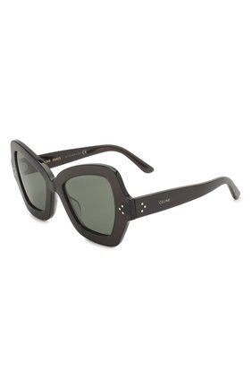 Женские солнцезащитные очки CELINE EYEWEAR черного цвета, арт. 40067I | Фото 1