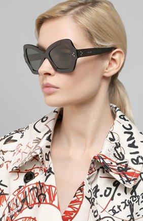 Женские солнцезащитные очки CELINE EYEWEAR черного цвета, арт. 40067I | Фото 2