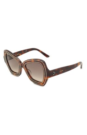 Мужские солнцезащитные очки CELINE EYEWEAR леопардового цвета, арт. 4067IS | Фото 1