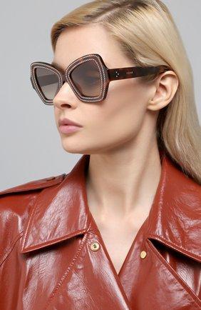 Мужские солнцезащитные очки CELINE EYEWEAR леопардового цвета, арт. 4067IS | Фото 2