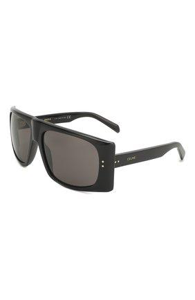 Женские солнцезащитные очки CELINE EYEWEAR черного цвета, арт. 40089I | Фото 1