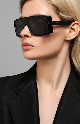 Женские солнцезащитные очки CELINE EYEWEAR черного цвета, арт. 40089I | Фото 2