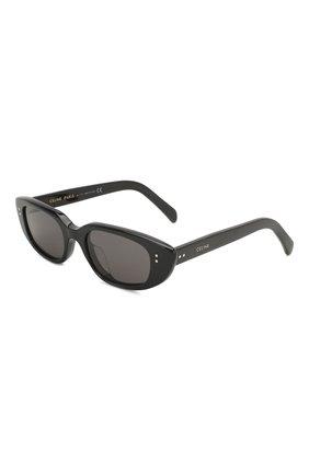 Женские солнцезащитные очки CELINE EYEWEAR черного цвета, арт. 40095U | Фото 1