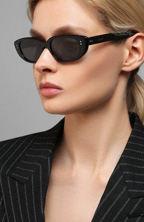 Женские солнцезащитные очки CELINE EYEWEAR черного цвета, арт. 40095U | Фото 2