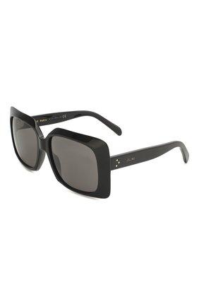 Женские солнцезащитные очки CELINE EYEWEAR черного цвета, арт. 40096I | Фото 1