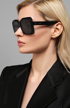 Женские солнцезащитные очки CELINE EYEWEAR черного цвета, арт. 40096I | Фото 2