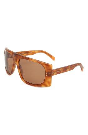 Женские солнцезащитные очки CELINE EYEWEAR коричневого цвета, арт. 40089I | Фото 1