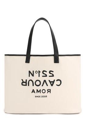 Женская сумка-шопер 5PREVIEW белого цвета, арт. W503 | Фото 1
