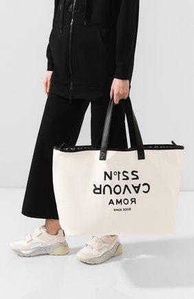 Женская сумка-шопер 5PREVIEW белого цвета, арт. W503 | Фото 2