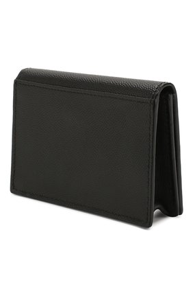Мужской кожаный футляр для кредитных карт SAINT LAURENT черного цвета, арт. 469338/BTY7N | Фото 2