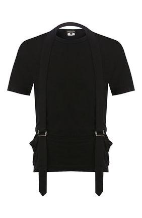 Мужская хлопковая футболка COMME DES GARCONS HOMME PLUS черного цвета, арт. PE-T013-051 | Фото 1