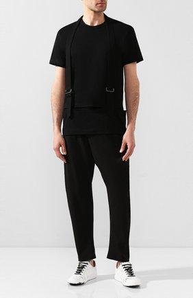 Мужская хлопковая футболка COMME DES GARCONS HOMME PLUS черного цвета, арт. PE-T013-051 | Фото 2