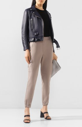 Женские хлопковые брюки J BRAND бежевого цвета, арт. JB002857 | Фото 2