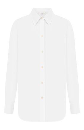 Женская хлопковая рубашка VINCE белого цвета, арт. V649712312 | Фото 1