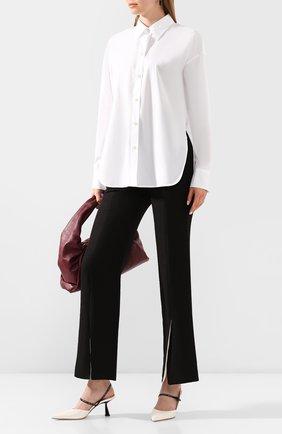 Женская хлопковая рубашка VINCE белого цвета, арт. V649712312 | Фото 2