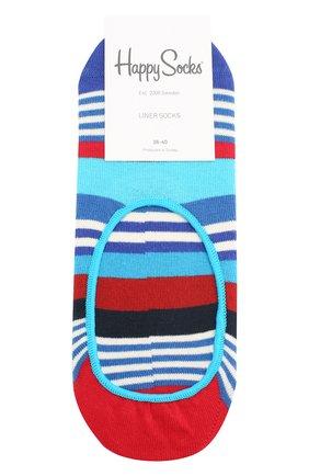 Женские подследники multi stripe liner sock HAPPY SOCKS разноцветного цвета, арт. MST06 | Фото 1