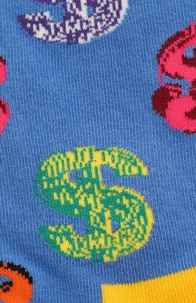 Женские носки andy warhol dollar sock HAPPY SOCKS разноцветного цвета, арт. AWDOL01 | Фото 2