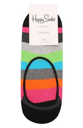 Женские подследники stripe liner sock HAPPY SOCKS разноцветного цвета, арт. STR06 | Фото 1