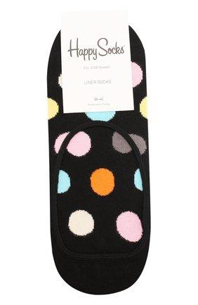 Женские подследники big dot liner sock HAPPY SOCKS разноцветного цвета, арт. BD06 | Фото 1