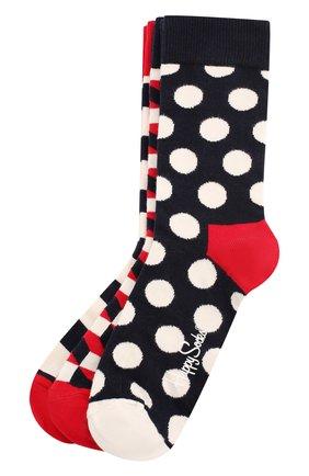 Женские комплект носков classic navy sock HAPPY SOCKS разноцветного цвета, арт. XSTR08 | Фото 1
