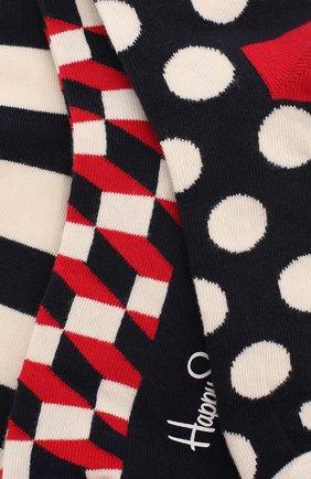 Женские комплект носков classic navy sock HAPPY SOCKS разноцветного цвета, арт. XSTR08 | Фото 2