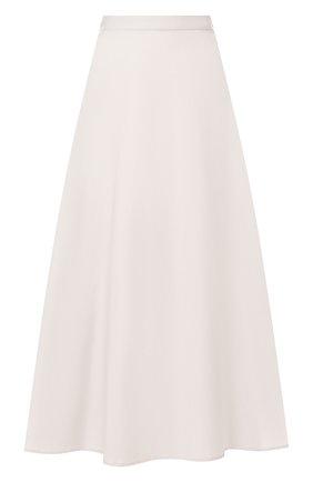 Женская юбка LORENA ANTONIAZZI бежевого цвета, арт. E2003G0009/3193 | Фото 1 (Женское Кросс-КТ: Юбка-одежда; Материал внешний: Хлопок; Длина Ж (юбки, платья, шорты): Миди)
