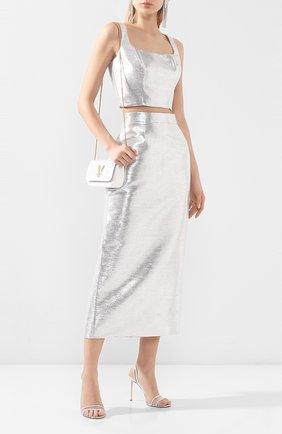 Женская юбка BRANDON MAXWELL серебряного цвета, арт. SK126SS20 | Фото 2