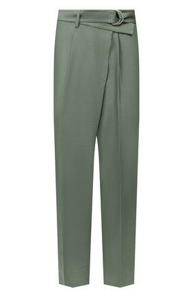 Женские брюки из смеси шерсти и шелка HELMUT LANG зеленого цвета, арт. K01HW205 | Фото 1