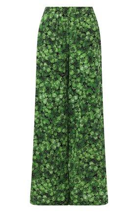 Женские шелковые брюки DOLCE & GABBANA зеленого цвета, арт. FTA0YT/FSAZP | Фото 1