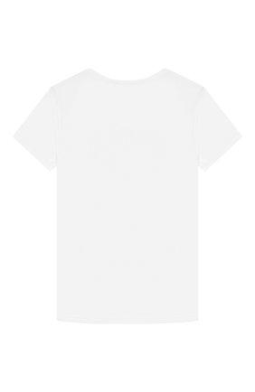 Детская хлопковая футболка LA PERLA белого цвета, арт. 54364/2A-6A | Фото 2