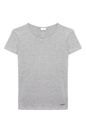 Детская хлопковая футболка LA PERLA серого цвета, арт. 54364/2A-6A | Фото 1