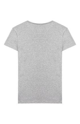 Детская хлопковая футболка LA PERLA серого цвета, арт. 54364/2A-6A | Фото 2