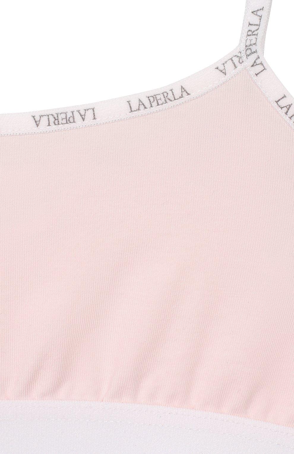 Детский бра-топ LA PERLA розового цвета, арт. 51329/2A-8A   Фото 3